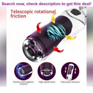 55% off Automatic Piston Telescopic Rotation Male Masturbator Cup Adult Sex Toys Real Vagina Suckin